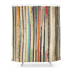 Record Collection Shower Curtain
