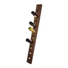 10-Bottle Champagne Riddling Rack, Dark Walnut