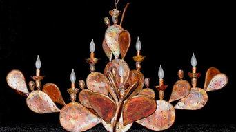 Copper Cactus Chandelier