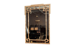 Billy Haines Faux Bamboo Mirror