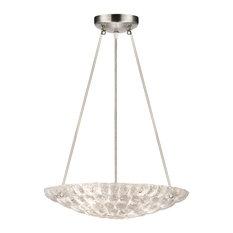 Fine Art Lamps 842840 Constructivism Moonlit Mist Clear Glass Pendant