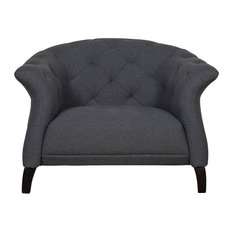 Crispin Chesterfield Armchair, Dark Grey