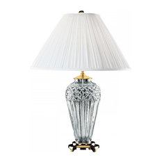 "Waterford Crystal - Waterford Belline Polished Brass 29"" Table Lamp - Table Lamps"