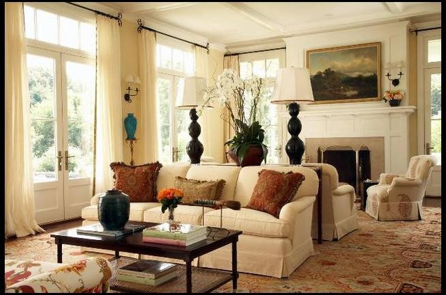 Instead Of Feeling Cavernous, The Twin Sofas Help This Room Feel Homey And  Cozy. As A Bonus, The Table In Between Is A Great Spot For A Pair Of  Reading ... Part 67