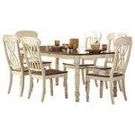 Homelegance - Homelegance Ohana 7-Piece Dining Table Set, Cherry and Antique White - Homelegance Ohana Collection: