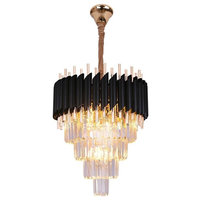 18K Gold Plated Stainless Steel K9 Crystal Chandelier, 24""