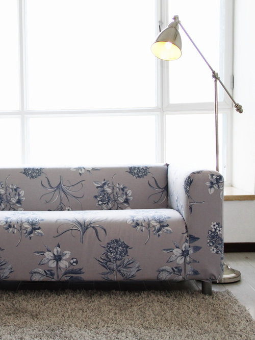 Custom Velvet Slipcover For The Ikea Klippan 2 Seater Sofa Fabric Discontinued
