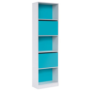 iBlue Bookcase With Doors
