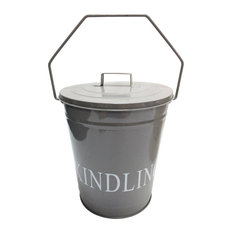 Fire Vida Kindling Bucket With Lid, Grey