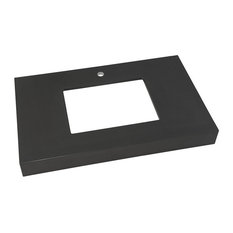 """Ronbow Techstone Wide Appeal 36""""x22"""" Vanity Top, Stone Gray, 4"""" Thick"""