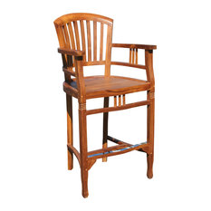 free shipping over 49 teak orleans bar stool with arms by chic outdoor stools furniture in a multitude of styles chic teak s49 chic
