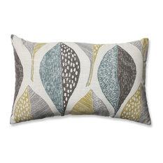 Pillow Perfect Inc - Woodblock Leaf Rain Rectangular Throw Pillow - Decorative Pillows