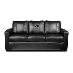Brooklyn Nets NBA Silver Sofa
