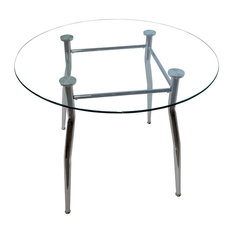Maria Glass Top Dining Table