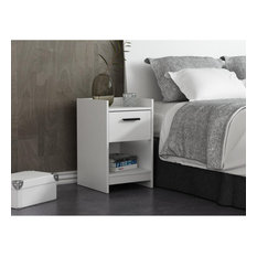 Central Park White One Drawer Night Stand