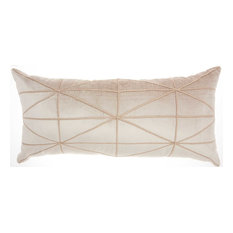 Inspire Me! Home Decor Embellished Criss Cross Throw Pillow, Beige