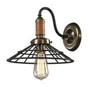 ELK Lighting 14230/1 Spun Wood Vintage Rust Wall Sconce