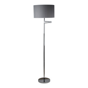 Eristow Floor Lamp, Polished Chrome