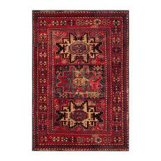 """Safavieh Vintage Hamadan Rug, Red/Multi, 6'7""""x9'"""
