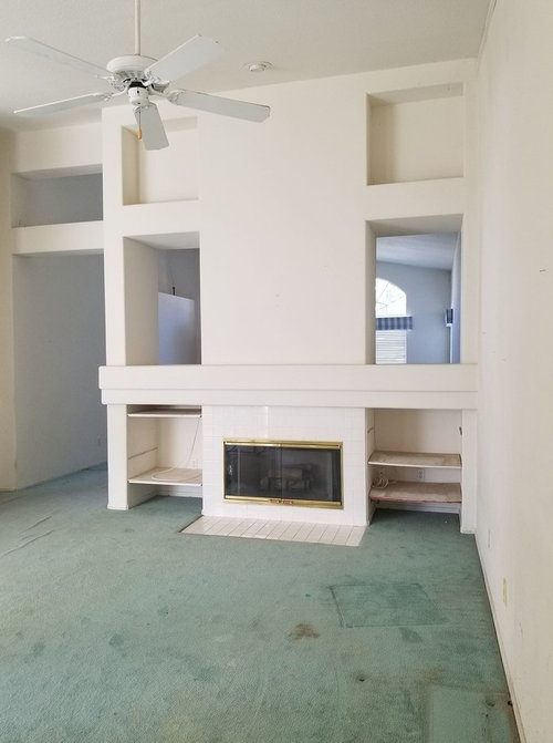 1990s Fireplace room divider eyesore What would you do