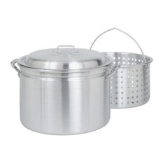 Bayou Classic 24-Quart Fryer, Steamer With Lid and Basket, Aluminum