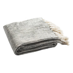 Jacqui Metallic Throw, Gray, Silver