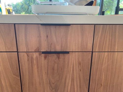 Walnut Veneer Kitchen Cabinets