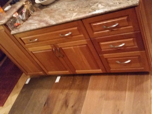 Kitchen Flooring With Cherry Cabinets