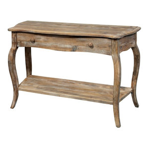 Alaterre Furniture Rustic Reclaimed Media/Console Table in Driftwood