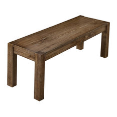 Janet Driftwood Transitional Dining Bench