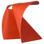 MU Form - Fortune Stool, Red - Developed in 2008, the copyrighted Fortune Stool is celebrated and recognized by museums and private collections around the world, yet it is a sensible seat that can be used in homes and commercial spaces alike. Its form provides practical functionality- the one-piece stool is durable and gives a little spring when you sit, while its firm base maintains a solid footing. They can easily be nested for efficient storage or transport.
