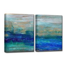 "Ready2HangArt 'Sea Spray' by Normanyatt Jr. Art 40"" 30"" 2-Panels"