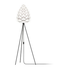 "Conia 63"" Tripod Floor Lamp, Black/White"