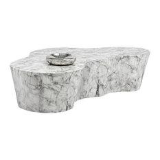 Sunpan 103309 Ava Coffee Table, Marble Look