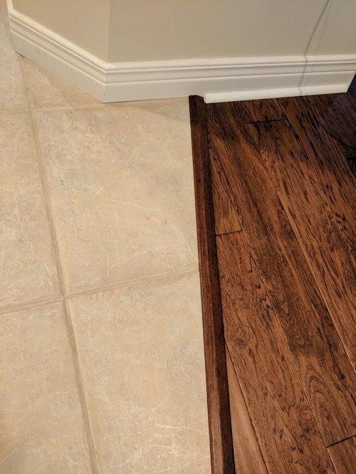 Hardwood Floor To Tile
