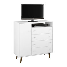 Drawer Combo Dresser Entertainment Centers Tv Stands Houzz