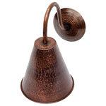 SoLuna Copper - Copper Conical Wall Sconce, Matte Copper - Copper finishes available: Café Natural*, Matte Copper*, Dark Smoke, Rio Grande, Polished Copper (see chart).