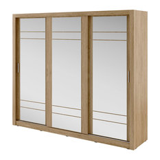 Verto 3-Door Sliding Wardrobe, Shetland Oak