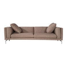 Basil Modern Contemporary Sofa, French Press Twill