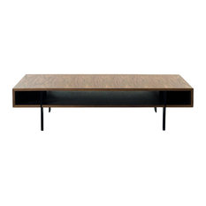 Modrest Stilt Modern Walnut Coffee Table