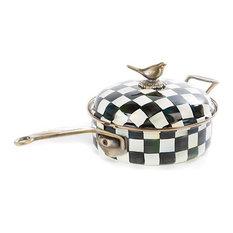 Courtly Check Enamel 3 Qt. Saute Pan