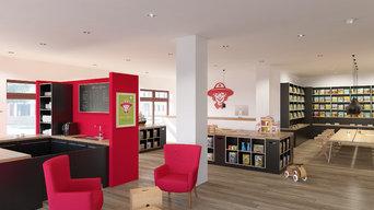 3D-Visualisierung Shop-Design: Innenarchitektur und Interieur / Interior Design