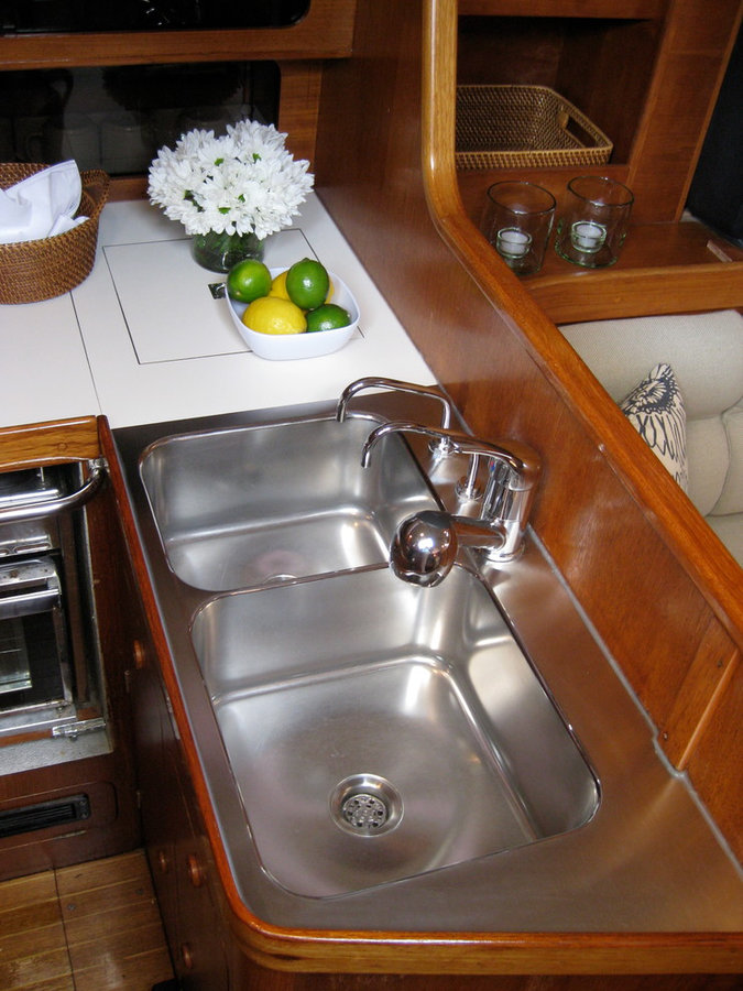 AFTER - Custom Galley Sink