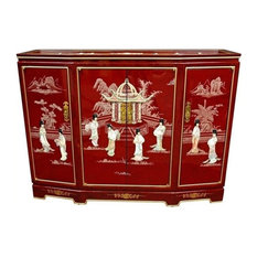 Oriental Furniture - Oriental Furniture Slant Front Accent Chest With Removable Shelf - Accent Chests and Cabinets