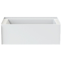 A2 6032CTMMR-AW Composite 60-in Lx33.5-in Wx22-in H Bathtub, White