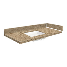 Transolid 36.75 in. Solid Surface Vanity Top in Sand Mountain with 4in Centerset