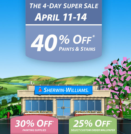 Bathroom Sherwin Williams Sale Sherwin Williams Coupon Sherwin Williams Exterior Paint Colors: Sherwin-Williams Sale, 40% Off