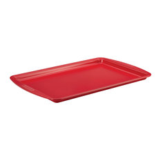 "Silverstone Hybrid Ceramic Nonstick Bakeware 11""x17"" Cookie Pan, Chili Red"
