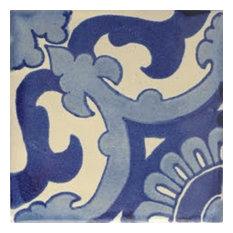 4.2x4.2 9 pcs Blue Vicenza Talavera Mexican Tile