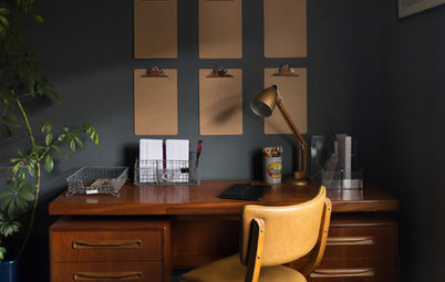 Colour: How to Team Natural Wood with Rich, Dark Grey